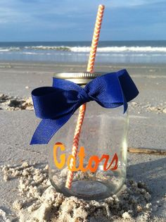 Hey, I found this really awesome Etsy listing at http://www.etsy.com/listing/155404760/florida-gators-personalized-mason-jar