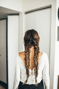 Fishtail braides for a fun new look and take on braides.