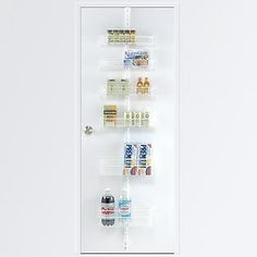 The Container Store U003e White Elfa Door U0026 Wall Rack System  Components  Assembly Instructions