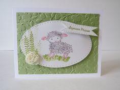 Carte de Pâques «petit agneau» Stampin' Up! de la boutique Lamainalacarte sur Etsy