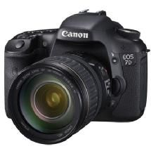 Made to be the tool of choice for serious photographers and semi-professionals, the Canon EOS 7D features an 18.0 Megapixel APS-C size CMOS sensor and Dual DIGIC 4 Image Processors, capturing tremendous images at up to ISO 12800 and speeds of up to 8 fps. The EOS 7D has a cross-type 19-point AF system with improved AI Servo AF subject tracking and user-selectable AF area selection modes for sharp focus no matter the situation. The EOS 7D's Intelligent Viewfinder...