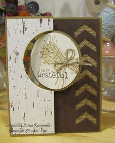 by Sherry Roth, Sherry's Stamped Treasures: Truly Grateful Card