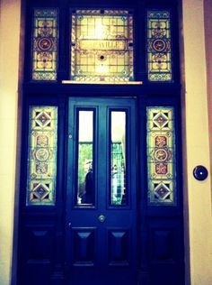 Postcards from Sydney: Beautiful stained glass door