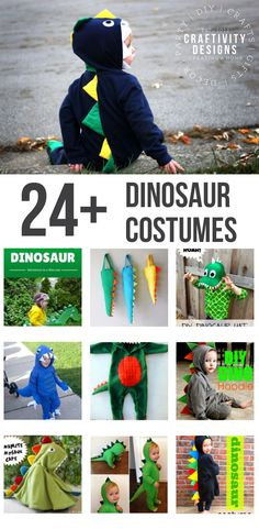 24+ Dinosaur Costume Ideas! Have a little dinosaur fan? Try this DIY Dinosaur Costume, a fun, and colorful Halloween costume idea for a toddler, preschooler, or child!