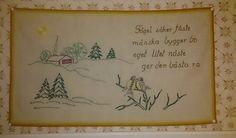 Love wall hangings.  Cosy and hemtrevligt😊👌 wall hangiIt says: 'When love unite with faith and hope is happiness sun over the cabin up.' It is an old hanging that dad's grandmother has done, but some of the stitches have been released, so I reset it.ng # # # cosiness country furnishings