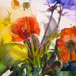 Blumen - Elke Memmler Great Paintings, Flower Art, Flower Power, Art Photography, Artsy, Diy Crafts, Plants, Inspiration, Richard Curtis