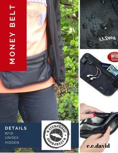 RFID Money Belt is best Travel Gear and undercover secure wallet for travel and sport.