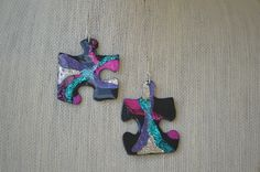 Are you puzzled? Earring at PICASSZOS at etsy
