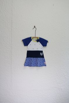NYYankees T Shirt Dress Recycled NY Yankees by cynthiamadeforkids