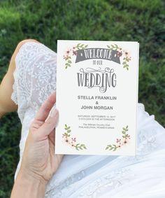 Folded Wedding Program Template - DIY Program - Wedding Program - Easy Editable Wedding Ceremony Program - DIY Program - Instant Download by CreativeUnionDesign on Etsy https://www.etsy.com/listing/281060650/folded-wedding-program-template-diy