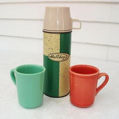 Vintage Thermos Vintage Green Thermos Classic by WhimzyThyme, via Etsy.