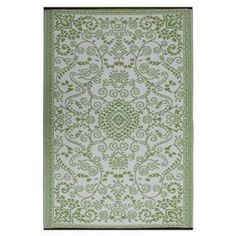 Amiya India Motif Reversible Indoor/Outdoor Rug, Emerald | Lulu and Georgia  $58.00 - $120.00