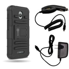 Alcatel Dawn Case, Alcatel Streak Case, Alcatel Ideal Case, Alcatel Acquire Case CoverON [Explorer Series] Bundle Micro USB Home + Car Charger For Alcatel Dawn Streak Acquire Ideal Holster Case Black -- Awesome products selected by Anna Churchill