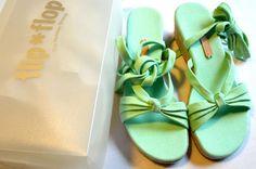 Flip Flop Flippa Lace peppermint grün Sandalen Sandalette Gr 38 Keilabsatz JS427