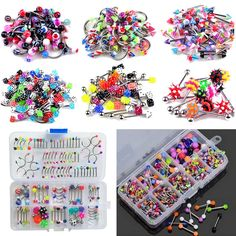 60+Wholesale+Lots+Mixed+Lip+Piercing+Body+Jewelry+Barbell+Rings+Tongue+Ring+RW+#UnbrandedGeneric