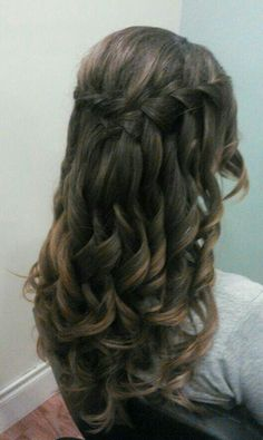 Waterfall hairdo, wedding hair, Jennifer Tadsen