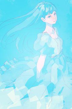 「blue」/「pomodorosa」のイラスト [pixiv]