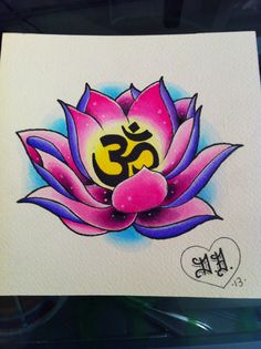 Lotus and om. www.instagram.com/blankenstein83 www.facebook.com/blankensteinart