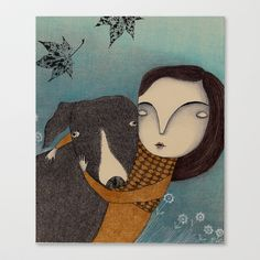 You and I Stretched Canvas by Judith Clay - $85.00