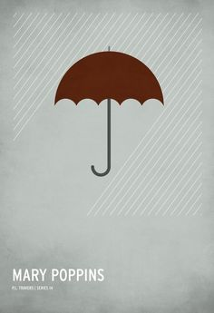 Minimalist poster of Mary Poppins