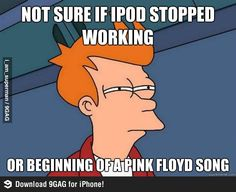 Pink Floyd fans can understand....Happened today when my speaker was kicking out...