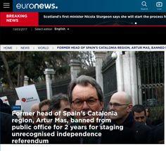 Reacció immediata de la premsa internacional a la condemna de Mas, Ortega i Rigau | VilaWeb