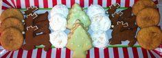 Christmas Tree Iced Sugar Cookies Iced Gingerbread, Christmas Reindeers Wedding Cookies Snickerdoodles  #cookies @sweetcissysllc