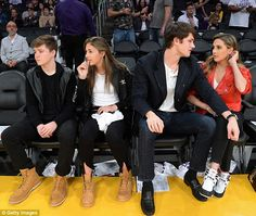 Scarlet and Sophia Stallone enjoy Lakers game double date  Their famous father has often said how proud he is of his three beautiful girls.  And Sylvester Stallones daughters Sophia 21 and Scarlet 15 enjoyed a night out as they sat courtside at the Lakers game at the Staples Center in Los Angeles on Thursday night while sister Sistine 19 hit the front row at New York Fashion Week.  Sophia sat with her boyfriend American football player Connor Spears while Scarlet was seen chatting to a male…