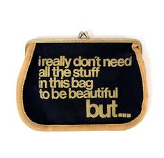 but ... I'll totally rock the mess outta some red eyeliner     (vintage makeup bag)