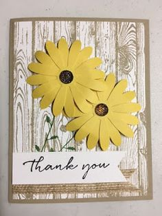 Daisy Delight, Hardwood, Background Bits, Birthday Card, Stampin' Up!, Rubber Stamping, Handmade Cards