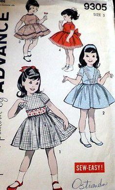 LOVELY VTG 1950s GIRLS DRESS Sewing Pattern 3