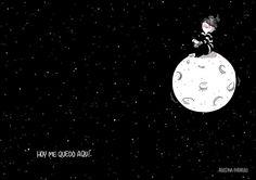 Con esta soledad inservible, vacía se puede algunas veces entender el amor. - luna congelada