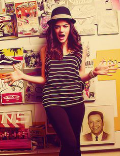 lucy hale...hat