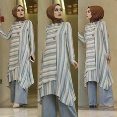 *YENİ SEZON*  Keten kumaş 36 38 40 42 beden Tunik boy ön 100 cm Yanlar 120 cm Pantolon beli lastikli 179.90₺ kargo bedava  Ürünlerimizde… Frock Fashion, Modesty Fashion, Fashion Sewing, Hijab Fashion, Fashion Outfits, Western Dresses For Women, Modele Hijab, Muslim Women Fashion, Hijab Trends
