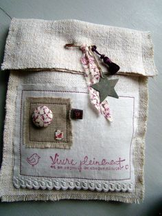 Fabric Crafts, Paper Crafts, Fabric Basket Tutorial, Sachet Bags, Shabby, Gris Rose, Brown Paper Packages, Lavender Sachets, Couture Sewing