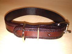 Obojok kožený vzorovaný 2cm široký