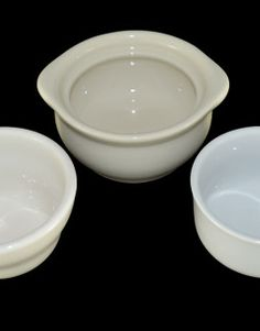 Porcelain Bowls, Small Round