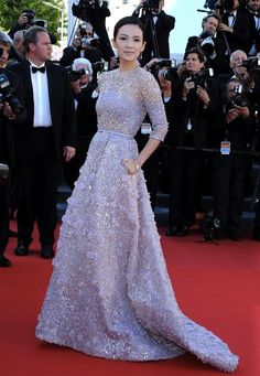 Zhang Ziyi in Elie Saab Couture Spring 2013.