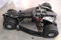 Lazareth Wazuma V8F Quad Sports Ferrari V8 and BMW M3 Gearbox – automotive99.com