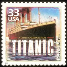 """The United States issued this postage stamp in 2000 as part of its """"Celebrate the Century"""" series, celebrating the success of James Cameron's Titanic (1997), which grossed more than $1.8 billion worldwide"""