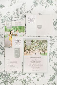 Postcard wedding invitation | itakeyou.co.uk | Photography: Christine Choi Photography