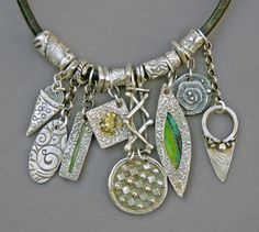 Mirinda Kossoff, fine silver charm necklace updated