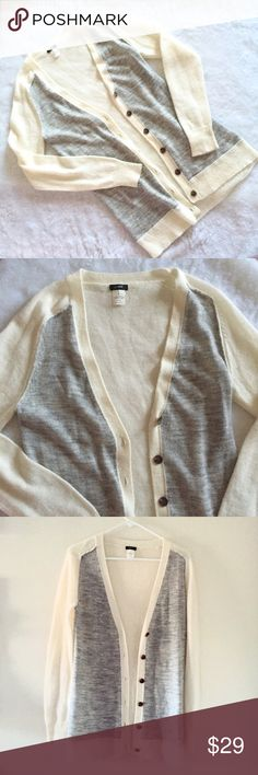 "J. Crew superfine alpaca wool blend cardigan Very nice high quality lightweight sweater great condition, 28.5"" long J. Crew Sweaters Cardigans"