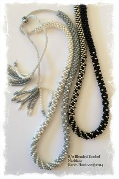 Kumihimo 8/0 Blended Beaded Necklace with Adjustable Closure Kit by Karen Huntoon | What a Braid