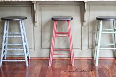 Savvy Southern Style: Mismatched Farmhouse Style Bar Stools