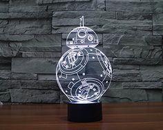 Star Wars Licht Bunte 3D stereoskopische visuelle LED-Licht USB-Tischlampe Tuofeng Nachtlicht Touch-Pad-Schalter und produziert einzigartige Lichteffekte und 3D-Visualisierung - erstaunliche optische Täuschung (BB-8): Amazon.de: Baby