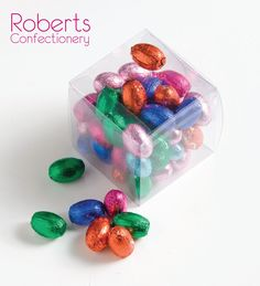 Clear acetate boxes from Roberts Confectionery are a great way to deliver your treats to loved ones!