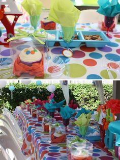 polka dot baby shower