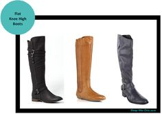 Flat Knee High Boots - each color
