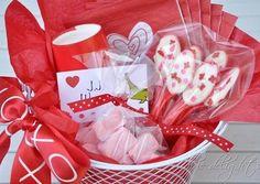 Teacher Valentine - hot chocolate basket